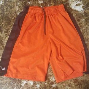Kids Dri-Fit Nike Orange Athletic Shorts Size M